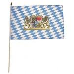 MFH - 35303B Fahne, Bayern mit Wappen, Holzstiel, Gr. 30x45 cm 12 Stück