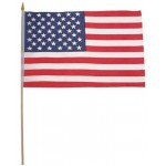 MFH - 35303C Fahne, USA, Polyester, Holzstiel, Gr. 30x45 cm 12 Stück