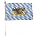 MFH - 35403B Fähnchen, Bayern mit Wappen, Plastikstiel, Gr. 10x15 cm 12 Stück