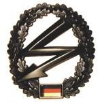 """MFH - 36021B BW Barettabzeichen, """"Fernmelder"""", Metall"""