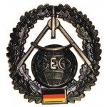 """MFH - 36021I BW Barettabzeichen, """"Topographie"""", Metall"""