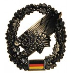 """MFH - 36021P BW Barettabzeichen, """"Fallschirmjäger"""", Metall"""