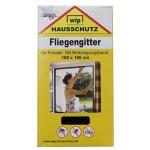 """MFH - 49270A Fliegengitter, """"Wip"""", schwarz, Befestigungsband, 100x100 cm"""