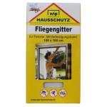 """MFH - 49270L Fliegengitter, """"Wip"""", weiß, Befestigungsband, 100x100 cm"""