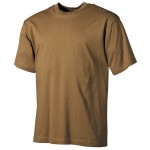 MFH - 00103R US T-Shirt, halbarm, coyote, 160g/m²
