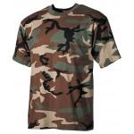 MFH - 00103T US T-Shirt, halbarm, woodland, 160g/m²