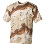 MFH - 00103W US T-Shirt, halbarm, 6 Farben desert, 160g/m²