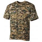 MFH - 00104C US T-Shirt, halbarm, digital- woodland, 170g/m²