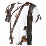 MFH - 00105E US T-Shirt, hunter-snow, halbarm, 170g/m²