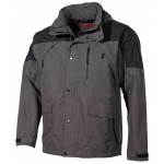 "MFH - 08901H Regenjacke, ""High Mountain"", schwarz/grün"