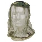 MFH - 10465 Moskito Kopfnetz,Stoffeinsatz, oliv/woodland, Gummizug