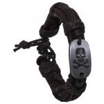 "MFH - 28152A Armband, ""Totenkopf"", Leder, braun"