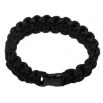 "MFH - 28163A Armband, ""Paracord"", schwarz, Clipverschluss, Breite 1,9 cm"