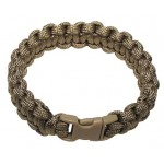 "MFH - 28163R Armband, ""Paracord"", coyote tan, Breite 1,9 cm"