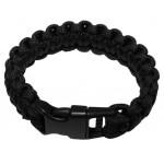 "MFH - 28173A Armband, ""Paracord"", schwarz, Clipverschluss, Breite 2,3 cm"