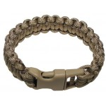 "MFH - 28173R Armband, ""Paracord"", coyote tan, Breite 2,3 cm"