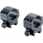 UMAREX 2.1560 - Walther Montage Ringe Base Rings Low 30mm Durchmesser für 22mm-Schiene PRS