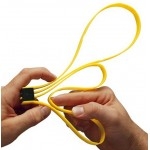 ASP 56192GELB - TRI-FOLD Einwegfesseln Handschellen gelb 6 Stück