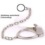 CLEJUSO - Fußschellen Fussfesseln Nr. Nr. 8 / 50cm Kette & Ring