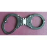 CLEJUSO - Handschellen Nr. 19R-2 Scharnier Gelenk asymmetrisch Schwarz, rostfrei Teflon